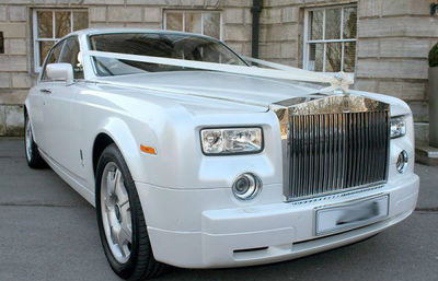 Sheffield Limo Rolls Royce Phantom in white